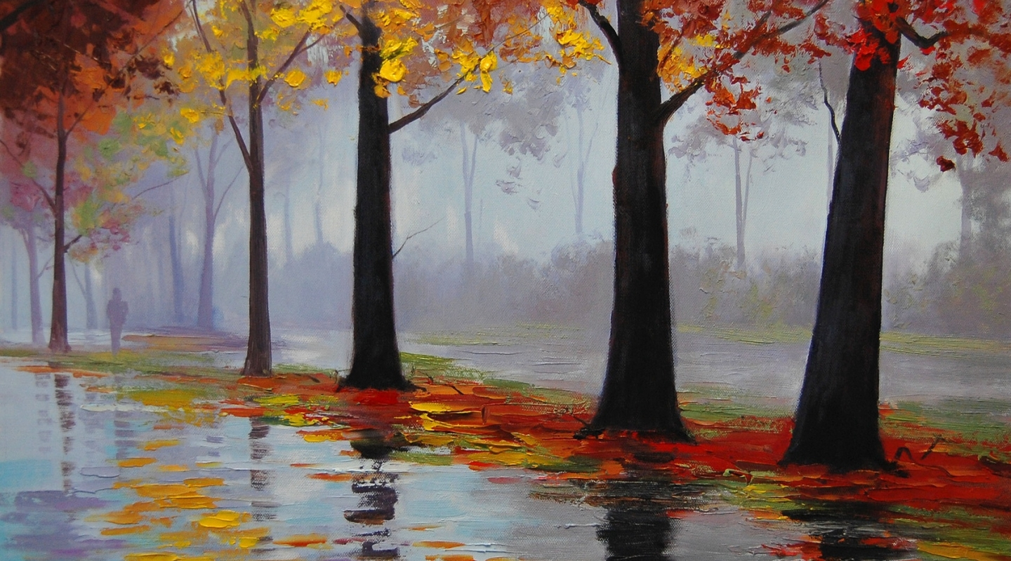 Autumn-Rain-Paint-Desktop-Wallpaper
