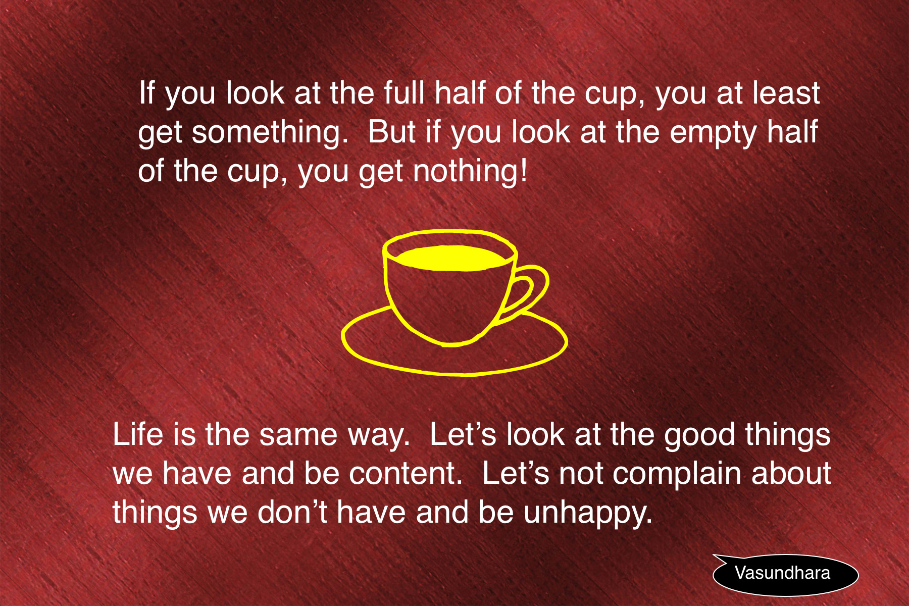 Cup Half Full Quotes: See The Full Half Of The Cup
